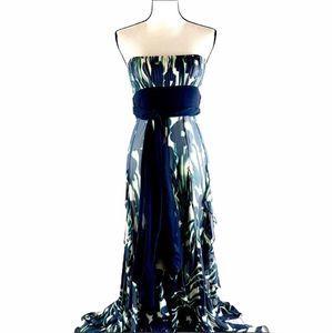 BCBG Max Azira Women's Silk Long Dress Size 2